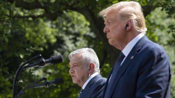 Donald Trump et son homologue mexicain Andrès Manuel López Obrador à la Maison-Blanche, 8 juillet 2020 - Sputnik France