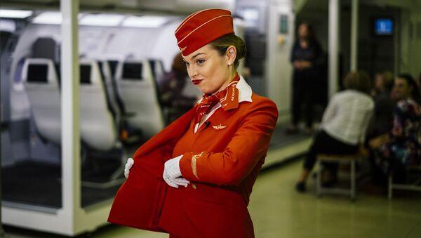 Autodéfense et maintien: la formation des hôtesses dans différentes compagnies aériennes   - Sputnik France