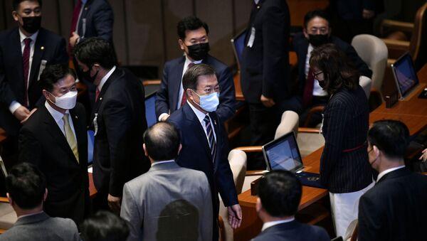 Moon Jae-in à l'Assemblée nationale le 16 juillet 2020 - Sputnik France
