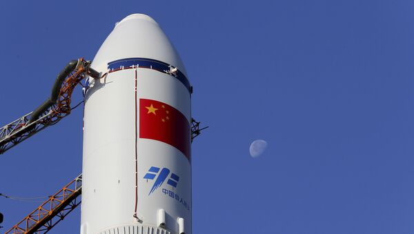 Une fusée chinoise à la base de Wenchang, image d'illustration - Sputnik France