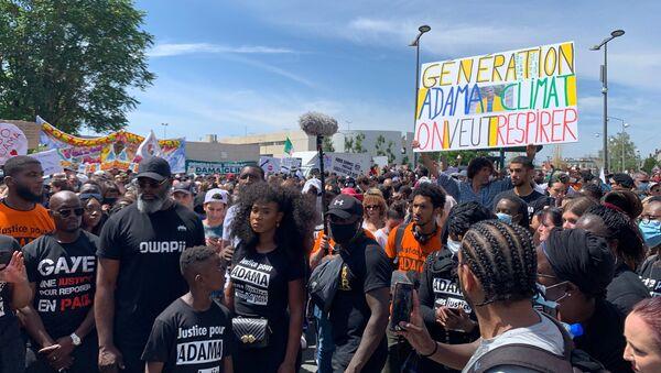 Marche du comité Adama avec des militants écologistes à Beaumont-sur-Oise - Sputnik France