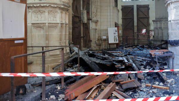 La cathédrale de Nantes après l'incendie - Sputnik France