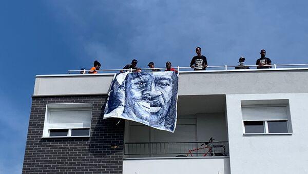 Quatre ans après la mort d'Adama Traoré, mobilisation сontre les violences policières à Beaumont-sur-Oise, 18 juillet 2020 - Sputnik France
