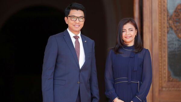 le Président malgache, Andry Rajoelina, avec sa femme - Sputnik France
