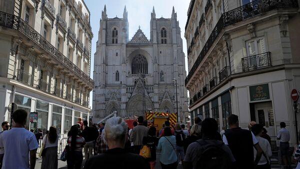 Incendie à la cathédrale Saint-Pierre et Saint Paul de Nantes, le 18 juillet 2020 - Sputnik France