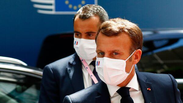 Emmanuel Macron à Bruxelles pour le Conseil européen, 20 juillet 2020 - Sputnik France