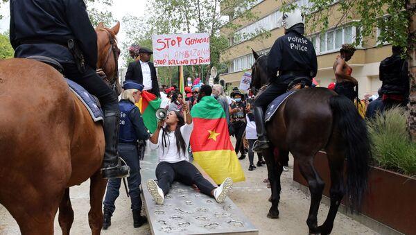 Des activistes de la BAS (Brigade anti-sardinards) manifestent à Bruxelles. - Sputnik France