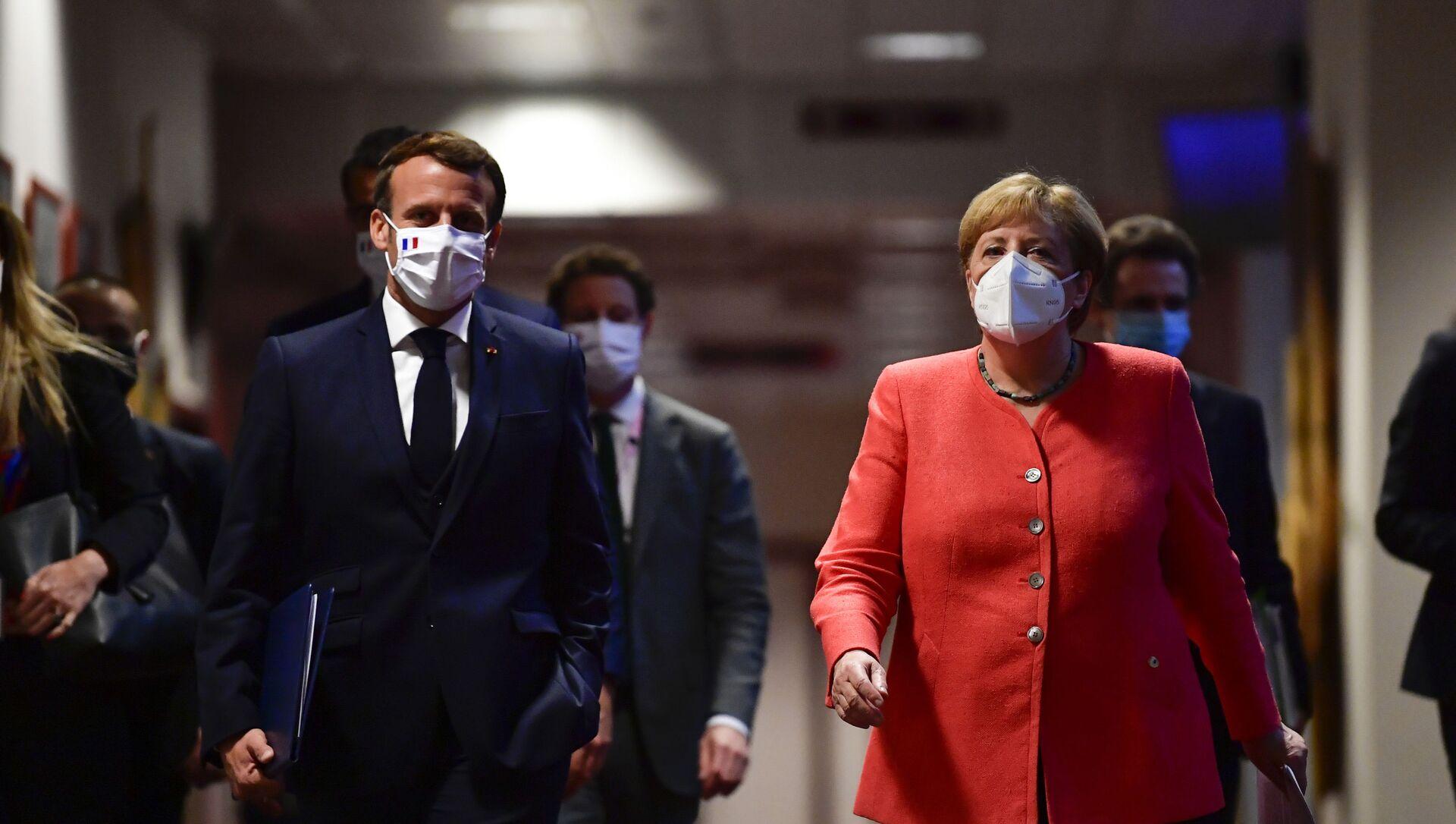 Emmanuel Macron et Angela Merkel (photo d'archives) - Sputnik France, 1920, 16.09.2021