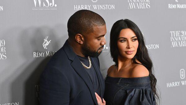 Kanye West et Kim Kardashian - Sputnik France