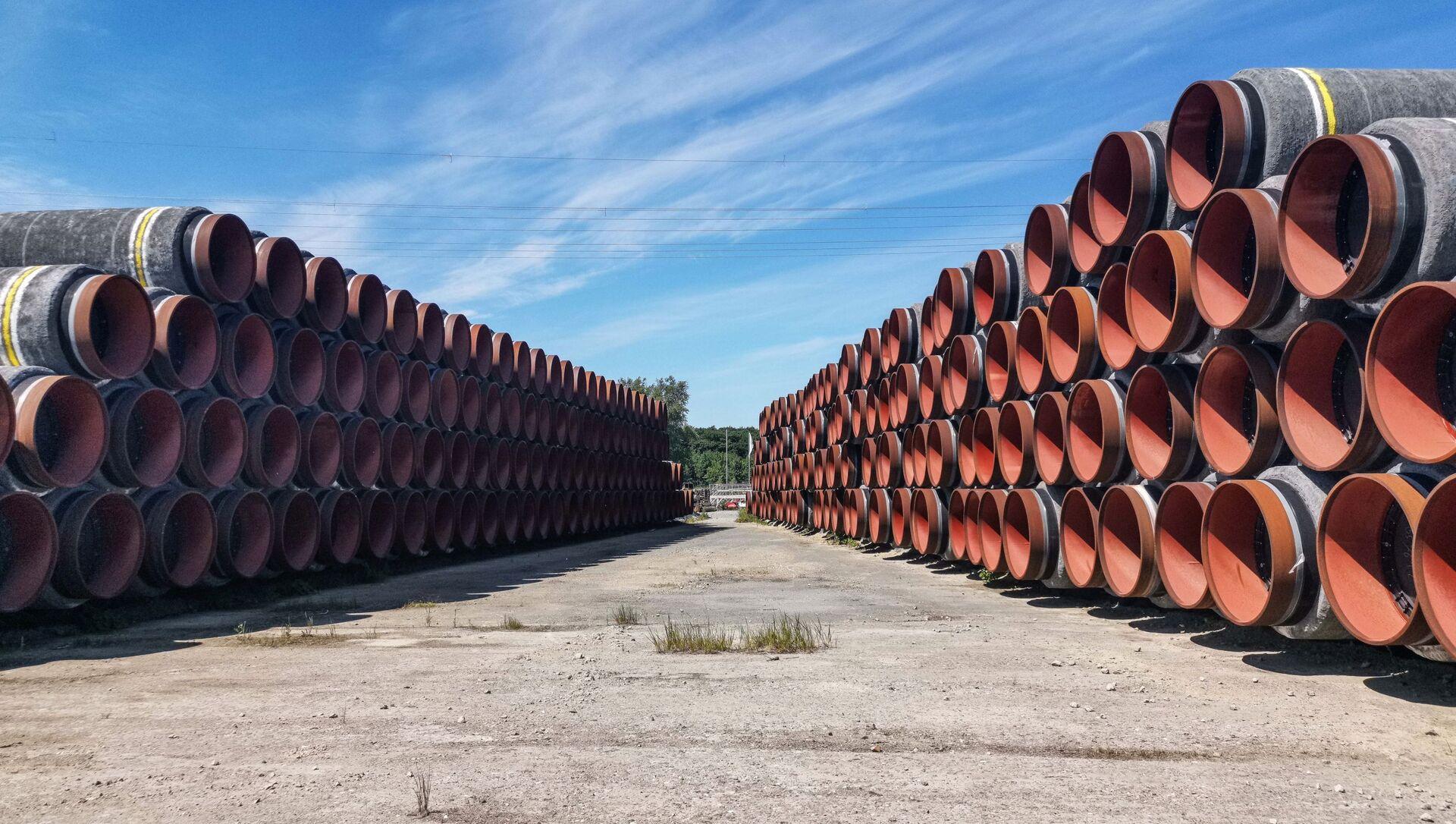 Des tuyaux pour le projet Nord Stream 2 - Sputnik France, 1920, 19.08.2021