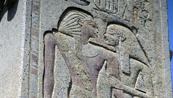 Une scène gravée dans le temple funéraire du pharaon Ramsès III (archive photo) - Sputnik France