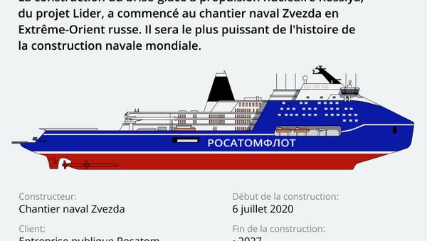 Rossiya, le brise-glace à propulsion nucléaire le plus puissant du monde - Sputnik France