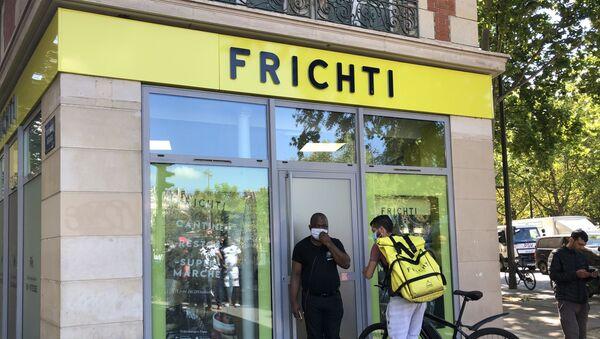 Une plateforme du livreur de repas à domicile Frichti, à Paris - Sputnik France