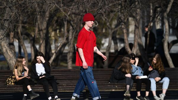 Des jeunes à Novossibirsk pendant la pandémie de Covid-19 (archive photo) - Sputnik France