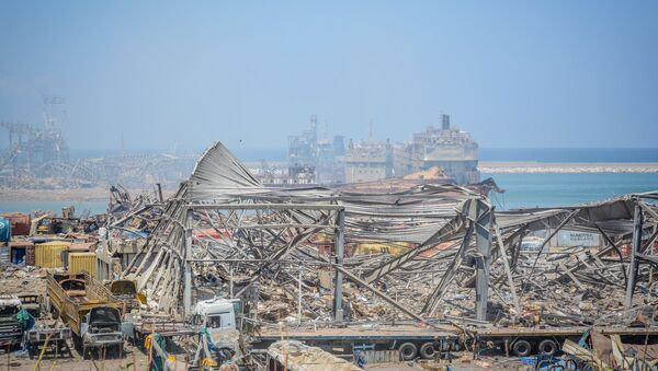 Beyrouth au lendemain de l'explosion de nitrate d'ammonium du 4 août 2020 - Sputnik France
