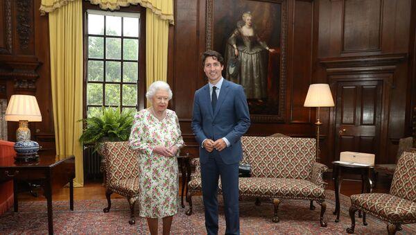 Élisabeth II et Justin Trudeau, juillet 2017 (image d'illustration) - Sputnik France