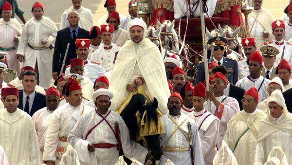 Le roi Mohammed VI lors de sa première cérémonie d'allégeance en 2000. - Sputnik France