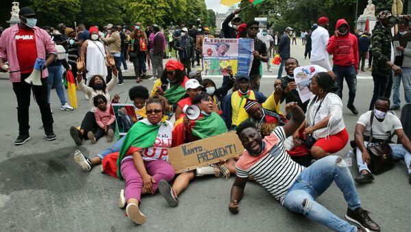 Manifestation de la diaspora camerounaise à Bruxelles - Sputnik France