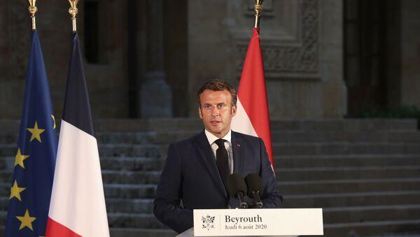 Emmanuel Macron à Beyrouth, le 6 août 2020 - Sputnik France