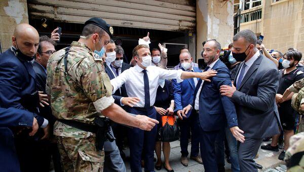 Emmanuel Macron en visite à Beyrouth, 6 août 2020 - Sputnik France
