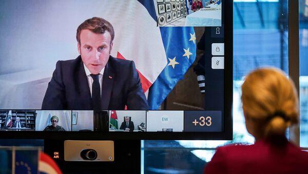 Visioconférence de soutien au Liban, le 9 août 2020 - Sputnik France
