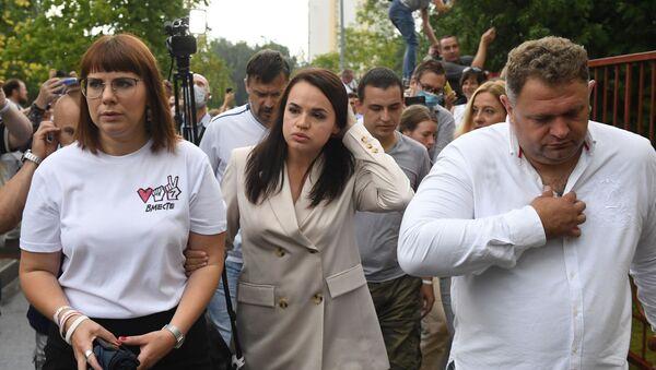 L'opposante principale à Loukachenko, Svetlana Tikhanovskaïa - Sputnik France