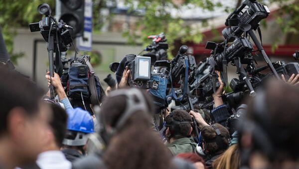 Des journalistes - Sputnik France