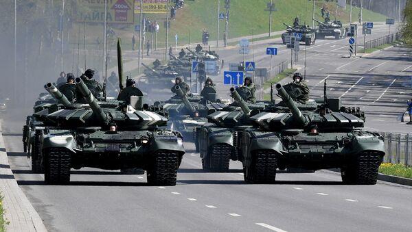 Des chars biélorusses (photo d'archives) - Sputnik France