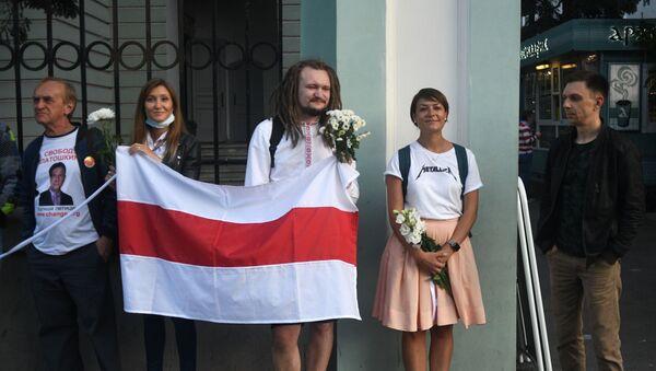 Une nouvelle action devant l'ambassade de Biélorussie à Moscou      - Sputnik France