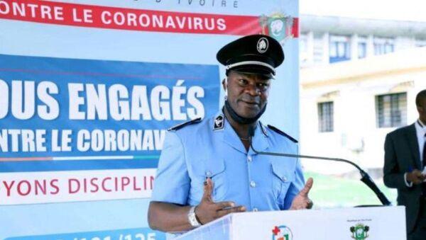 Le porte-parole de la police nationale ivoirienne, le commissaire Bleu Charlemagne.  - Sputnik France