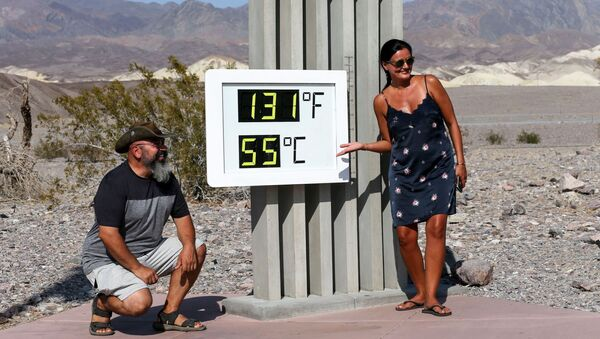 Nouveau record de chaleur enregistré dans la Vallée de la mort   - Sputnik France