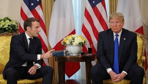 Emmanuel Macron et Donald Trump à Londres - Sputnik France