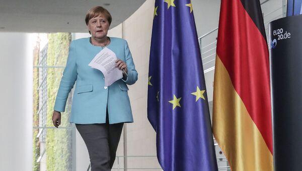 Angela Merkel à l'issue du sommet européen le 19 août  - Sputnik France