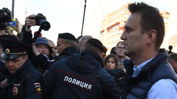 Alexeï Navalny sur l'avenue Sakharov à Moscou - Sputnik France