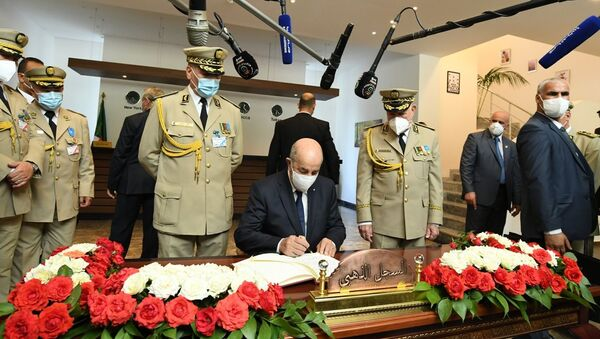 Le Président Abdelmadjid Tebboune au ministère de la Défense nationale  - Sputnik France