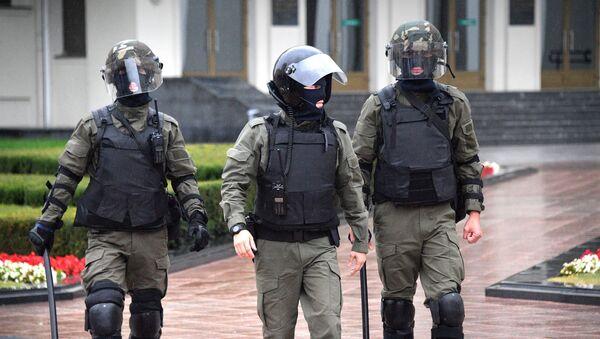Des membres d'une unité spéciale de police à Minsk (archive photo) - Sputnik France