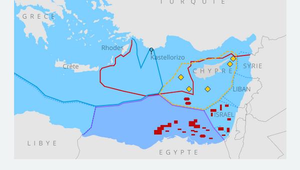 Frontières maritimes entre la Turquie et la Grèce en Méditerranée - Sputnik France