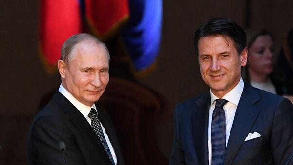 Официальный визит президента РФ В. Путина в Италию - Sputnik France