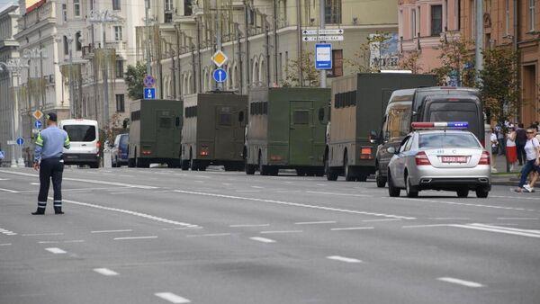 L'avenue de l'Indépendance de Minsk pendant une manifestation, 30 août 2020 - Sputnik France