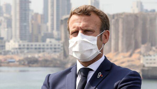 Emmanuel Macron à Beyrouth, le 1er septembre 2020 - Sputnik France