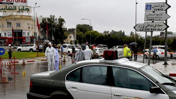 La police tunisienne enquête sur l'attaque à l'arme blanche des officiers de la garde nationale, le 6/09/2020 - Sputnik France