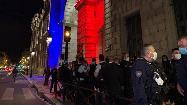 Rassemblement de policiers devant la Préfecture de Paris en hommage à leurs collègues, 10 septembre 2020 - Sputnik France