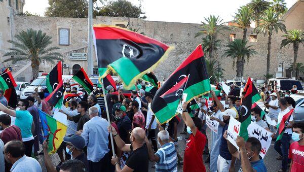 Manifestation anti-gouvernementale à Tripoli - Sputnik France