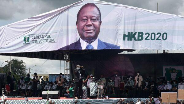 Un meeting du candidat à la présidentielle ivoirienne Henri Konan Bédié - Sputnik France