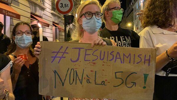 #JesuisAmish: rassemblement des militants de l'ANV COP 21 et des Amis de la Terre contre la 5G à Paris, le 15 septembre - Sputnik France
