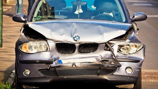 Une BMW accidentée - Sputnik France