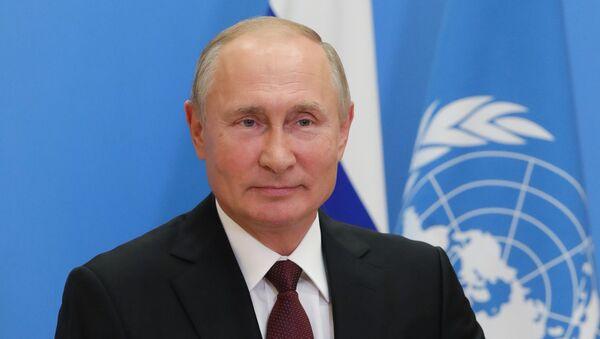 Vladimir Poutine lors de la 75e session de l'Assemblée générale de l'Onu - Sputnik France