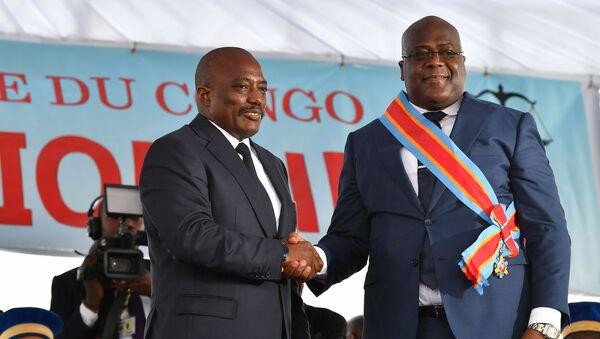 Le président sortant de la RDC Joseph Kabila (à gauche) et le nouveau président Félix Tshisekedi  - Sputnik France