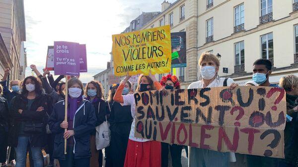 Manifestation de militantes féministes pour l'affaire Julie - Sputnik France
