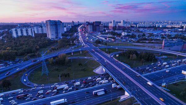 L'avenue Kachirskoïe et l'autoroute périphérique de Moscou - Sputnik France